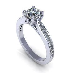 CERTIFIED 2.15 CT DIAMOND SOLITAIRE ENGAGEMENT RING SOLID 14K WHITE GOLD #22 #Solitaire