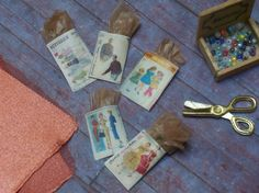 Miniature Vintage Sewing Patterns by LDelaney on Etsy, $4.50