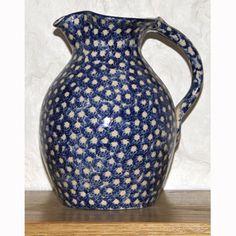 Crail Pottery - blue spongeware jug.