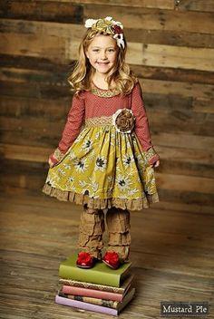 2015 Mustard Pie R2 Mustard Ruby Clover Twirl Dress