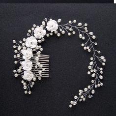 Jóia Do Cabelo Do Casamento de luxo Para Noivas Branco Puro Flores Feitas À Mão Das Mulheres Acessórios Para o Cabelo Pérola Cabelo Pente Cocar Alongar SL em Jóia do cabelo de Jóias & Acessórios no AliExpress.com | Alibaba Group