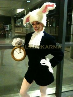 Alice in Wonderland's very own skating White  Rabbit greeting guests as they arrive at this stunning premier league football club Christmas Party. http://www.calmerkarma.org.uk/Alice-in-Wonderland.htm Tel:  020 3602 9540 UK ENTERTAINMENT AGENCY spreading love across UK inc London, Manchester, Birmingham, Leeds, Brighton and Wales.