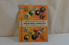 1965 Playoff Green Bay Packers Baltimore Colts Program Lambeau Field Game Rare #GreenBayPackers