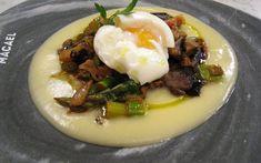 Crema de Patatas con setas y huevo
