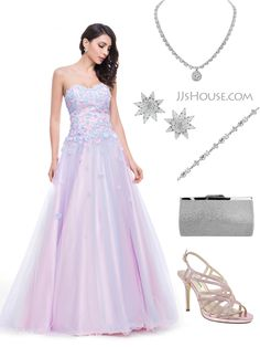 So pretty a Prom dress with flowers and pastel colors. Let's flowers bloom on your body, you will look like a Flower Fairy in this gorgeous dress.