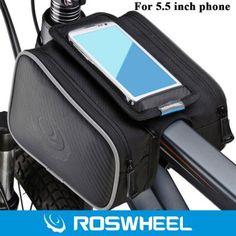 Hoy con el 28% de descuento. Llévalo por solo $40,300.De Roswheel 5,5 pulgadas exterior delantera de la bici del tubo del armazón de una silla Bolso con doble bolsa para el iPhone 6 6 Plus de Samsung HTC Sony.