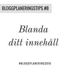 Allt du bloggar om behöver inte vara produktfokuserat eller bara fokuserat på sälj. Tänk på att använda din blogg som informationskälla med bra fakta också. Blanda innehållet och du har större chans att nå ut med ditt företag.  Imorgon samlas företagare från hela Sverige och planerar sitt blogginnehåll inför 2016. Kom med du också! http://ift.tt/1iHUwag