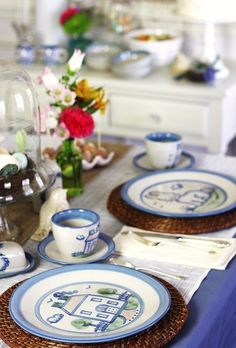Easter Entertaining with tabletop showcasing classic pottery, plus brunch recipes