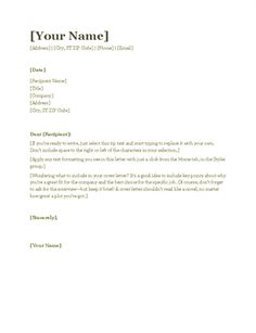 Student Cover Letter For Resume Cover Letter Template College Student  Cover Letter Template .