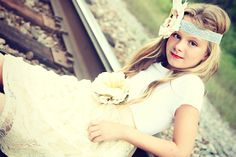 Shabby chic Junior bridesmaid