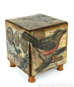 Be Still - Beeswax Artist Trading Block - Stamptramp