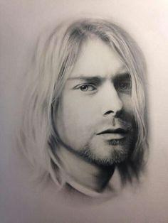 Kurt Cobain Poster Wall art #4 Nirvana American singer songwriter musician A3