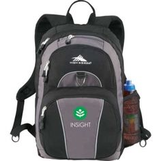 Promotional Products Ideas That Work: High Sierra Enzo Backpack . Get yours at www.luscangroup.com