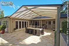 pitched roof pergola - Google Search