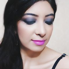 Shade Purple Rumba on my lips from @oriflameindia latest collection of glossy liquid lipsticks. Watch my latest YouTube video for lip swatches  quick review. Click the link in my bio to watch the video. #KnockOutLips . . #indianyoutuber #indianblogger #indianbeautyblogger #bblogger #beautyblogger #beautyvlogger #oriflame #oriflameindia #lipstick #makeup #lipsticklover #makeuplover #selfie #me #smokeyeye #greysmokeyeyes #mumbai #india #bhawnaahuja