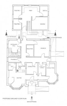 Facility sketch floor plan family child care home daycare hollybank vet clinic ground floor malvernweather Images