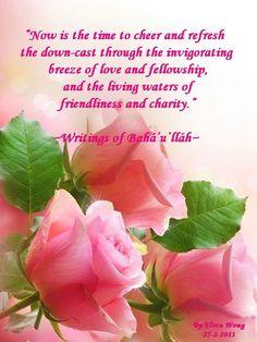 A sacred Baha'i quote from the Holy Writings of Baha'u'llah.