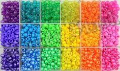 2300 BRIGHT mix pony beads w/case by KandiStash on Etsy, $18.00
