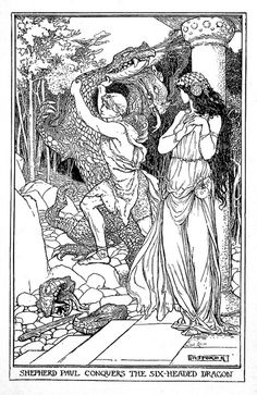 Shepherd Paul - The Crimson Fairy Book by Andrew Lang, 1903