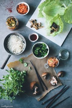 Korean Kimchi Wraps healthy food