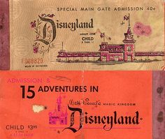 Child's ticket book from the summer of 1963.