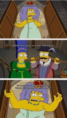 When Queen Elizabeth decided gender wasn't a deciding factor in her attraction: | 16 Times The Simpsons Gave You Material For Your Gender Studies Midterm