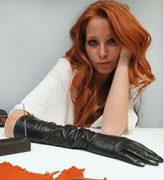 Leather Gloves, Leather Fashion, Long Hair Styles, How To Wear, Beauty, Beautiful, Women, Women's, Long Hair Hairdos