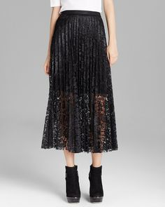 Free People Maxi Skirt - Coated Perma Lace Pretty Pleats on shopstyle.com