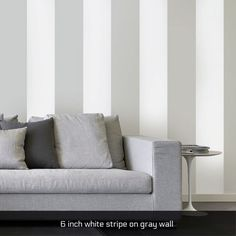 4 inch black stripe - easy stripe wall decals in multiple colors. $12 per 36 feet of vinyl tape. Perfect for rentals!