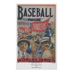 Baseball Magazine Cover from 1915 Posters Boston Public Library, Wedding Programs, Magazine, Baseball Cards, Sports, November, Posters, Cover, Hs Sports