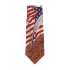 Collectible Patriotic Novelty Men's Constitution American Flag Necktie Tie  http://www.yourneckties.com/collectible-patriotic-novelty-mens-constitution-american-flag-necktie-tie-5/