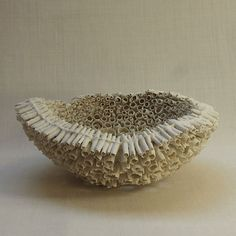 'Corail' (2013) by French ceramic artist Thérèse Lebrun (b.1956). Paper porcelain, 12 x 9 cm. source: WCC-BF. via scrapbook