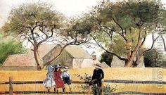 Children on a Fence by Winslow Homer