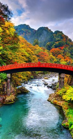 Autumn Travel Inspiration - Scenic Shinkyo Bridge in Nikko, Japan. ~ 19 Reasons to Love Japan, an Unforgettable Travel Destination