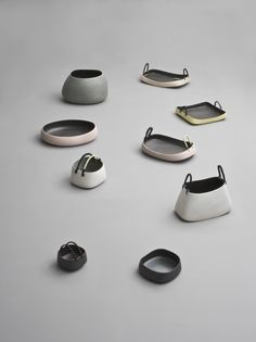 how gorgeous are these :) not only do I love matt finishes, but the shapes are just so... kind! please check out Nathalie's other items... <3