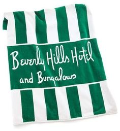 Beverly Hills Hotel & Bungalow beach towel