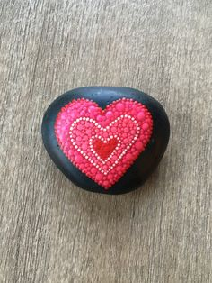 Painted stone - Painted rock - Heart stone - Valentine's Day- Dot art - Paperweight by ColorCoveArt on Etsy https://www.etsy.com/listing/575132410/painted-stone-painted-rock-heart-stone