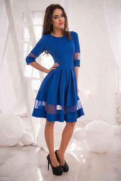 Платье из ткани двух цветов