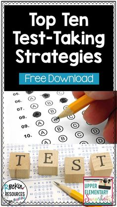 Prepare your students to be ready for test day. This will ease their anxieties and students will be able to take the test without added stress. These are the TOP TEN TEST-TAKING STRATEGIES that have been effective strategies for TEST PREP for my kiddos Test Taking Skills, Test Taking Strategies, Reading Strategies, Staar Test, Math Test, Upper Elementary Resources, Math Resources, Elementary Math, As You Like