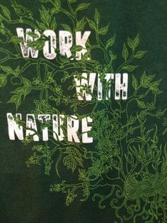 Mens Work with nature green t-shirt seeds