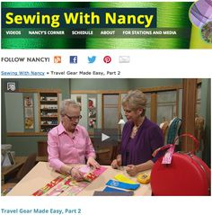 As seen on Sewing With Nancy, Travel Gear Made Easy with Mary Mulari and Nancy Zieman