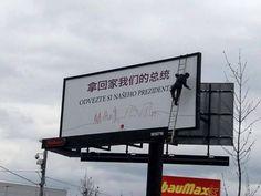 """""""odvezte si našeho prezidenta""""  ;*)  #billboard"""