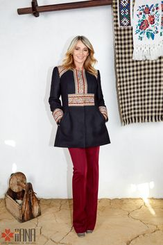 Nadia Comaneci for IIANA Nadia Comaneci, Folklore, Shopping, Beauty, Women, Ideas, Fashion, Embroidery, Moda