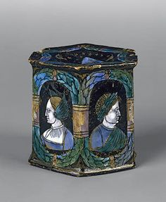 Salt-Cellar: Mythological Characters   France, Limoges. Mid - second half of the 16th century