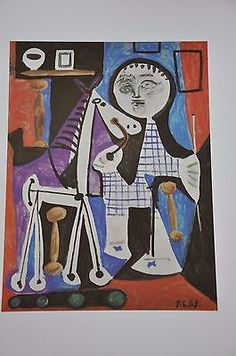 """Child with Horse on Wheels by Pablo Picasso Fine Art Print 17"""" x 11"""""""