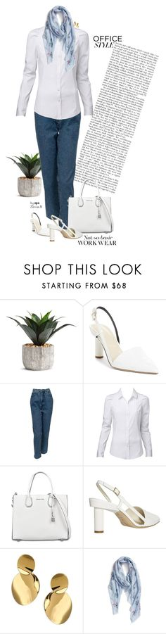 """""""SET #2345. Office Style: Not-so-basic Workwear"""" by annasousa-1 ❤ liked on Polyvore featuring TIBI, Versace, MICHAEL Michael Kors, Kate Spade, Rebecca Minkoff, WorkWear, notemplate, officestyle, fashionset and NotSoBasic"""