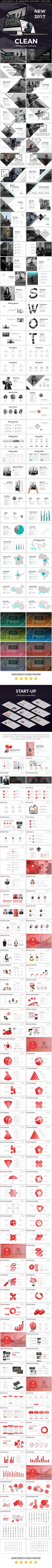 Clean 2017 Powerpoint Presentation Bundle | PowerPoint Templates