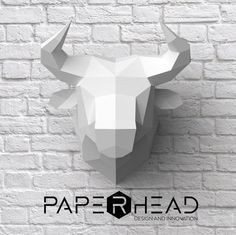 Make your own bull trophy head DIY Papercraft por PaperheadDesign