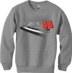 Dale Earnhardt Jr CFS NASCAR Spring 2013 Crew Neck Sweatshirt by RacingGifts. $36.00. These long sleeve officially licensed sweatshirts are made from a blended fabric for durability and comfort, and feature high quality graphics. Colorful and attractive, unique look, they re fashionable for just about any occasion. Show your racing team pride with one of our most popular long sleeve designs!