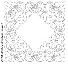 Plumas marco de Barbra 7 Hand Quilting Patterns, Quilting Stencils, Quilting Templates, Machine Quilting Designs, Longarm Quilting, Free Motion Quilting, Embroidery Patterns, Machine Embroidery, Stitch Patterns